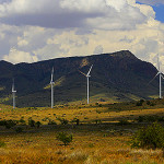 Wind turbines from at the Red Horse Wind and Solar Array Project , July 16, 2015 will provide 71 megawatts of new generating capacity near Willcox, AZ. Photo by David Sanders/TEP.