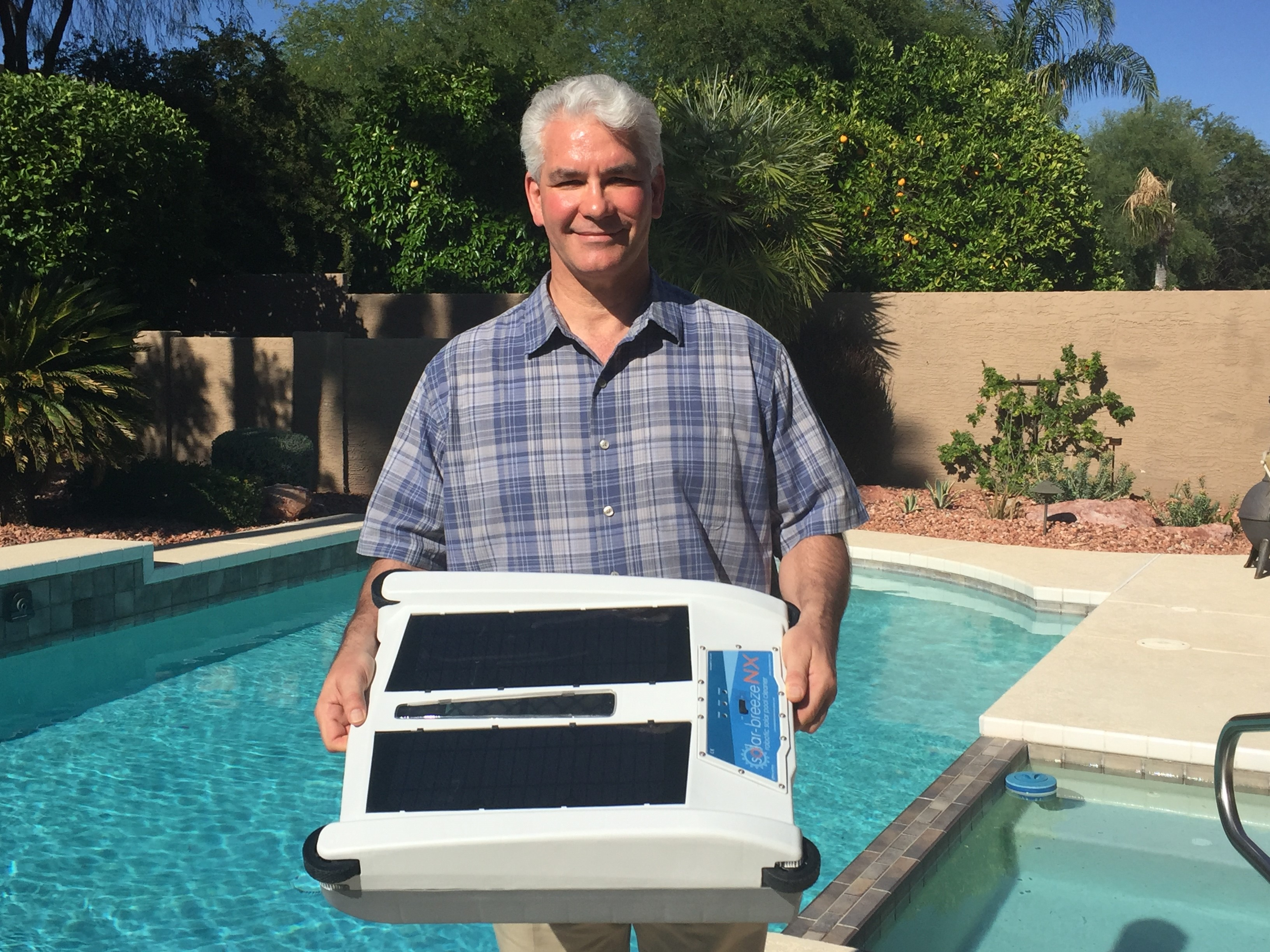 Title New Solar Powered Pool Cleaner Ready Just In Time